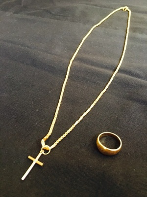 Grandma's Gold Ring and Necklace