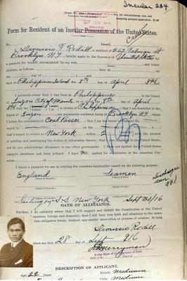 1916 Seaman's Certificate, Brooklyn
