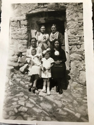 My great-grandmother back in Italy (in black).