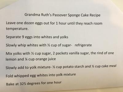 Sponge Cake Recipe
