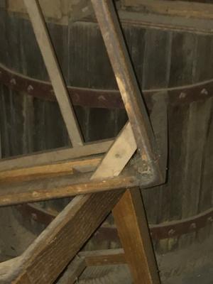 The Somazzi familys wooden wine press.