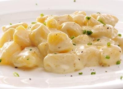 Potato Gnocchi in a cream sauce.