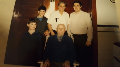 Frank, son-in-law George Smrtic & family
