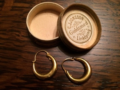 Gold Earrings from Sweden