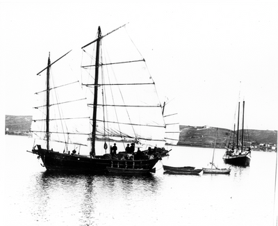 The Sun Yun Lee. While this image is not dated, the junk worked the fisheries between 1884 (built date) and 1892 (date the vessel was sold). Courtesy of the Chinese Historical Society of Southern California, from the Robert A. Nash Collection.  Dr. Robert Nash was instrumental in starting the Chinese Historical Society of Southern California in 1975. He spent many years methodically detailing and writing about Chinese fishing activities and watercraft with a specific focus on California-built Chinese junks and sampans.