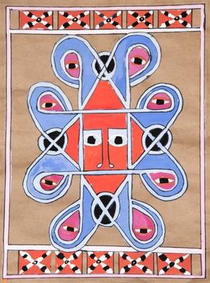 Influenced by Ethiopian Folk Art Painting