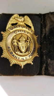 John P. Tuffey's Chief Of Police Badge