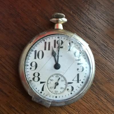 Brass Elgin pocket watch