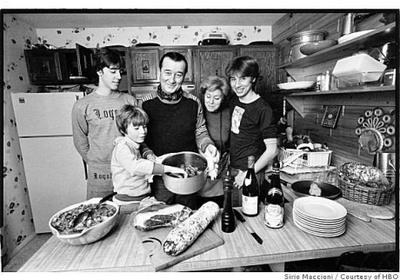 My nonna, father(left), nonno, & uncles