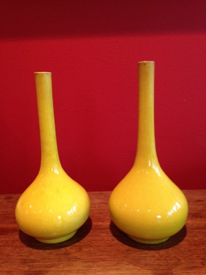 Bud vases brought from England c. 1885