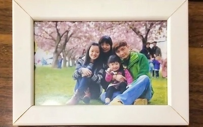 family photo at a park