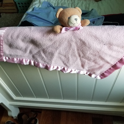 Blanket Bear - blanket with a bear head and arms attached