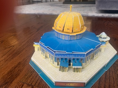3d puzzle of the Dome of Rock