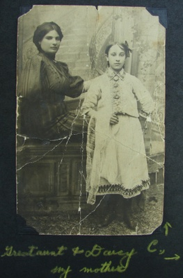 Daisy, my grandmother, as a young girl back in the old country