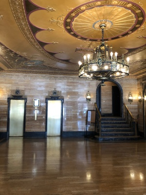 "The main lobby of 41 Eastern Parkway, ""Copley Plaza"""