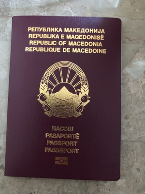 Republic of Macedonia passport