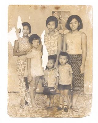 Family photograph, circa 1973