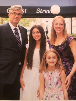 My immediate family at my Bat Mitzvah