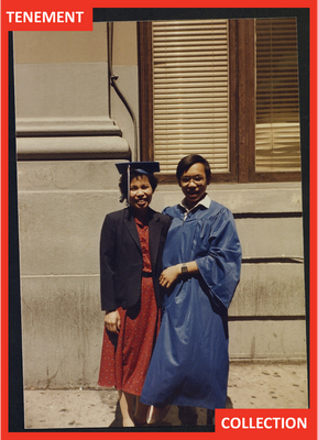 Mrs. Wong and Kevin at his college graduation.