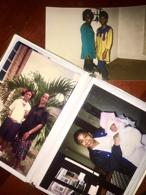 Pictures of my mom, grandma, her sister, and aunt in Trinidad