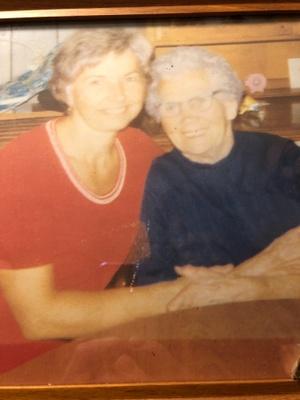 grandmother (left) Great Grandma (right)