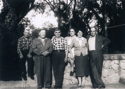Italian Gardeners and wives, c. 1956