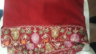 Red Kashmiri Embroidered Shawl