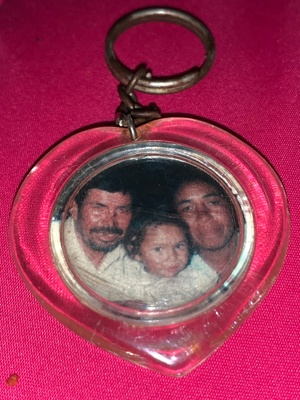 keychain of mom & grandparents