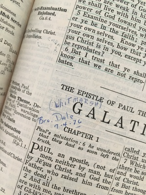 July 4th, 1976, Brother Dale spoke on Galatians Chapter 1.