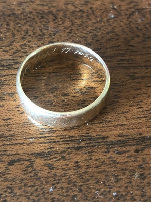 The ring with engraved date