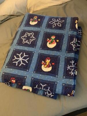 Dark blue winter themed blanket