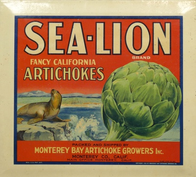 Sea Lion Crate Label