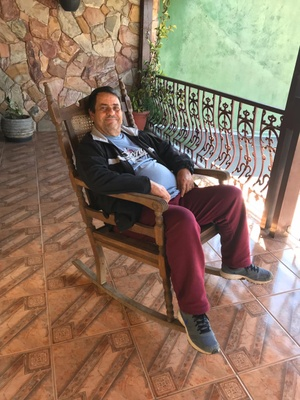 My grandfather on the chair
