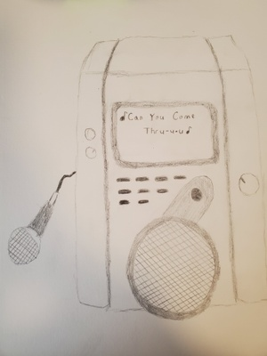 This is a drawing of a karaoke machine.