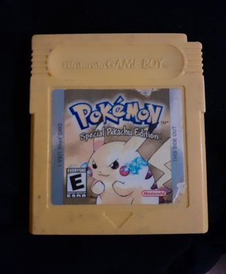 An old copy of Pokemon Yellow