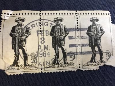 U.S. Sam Houston Postage Stamp