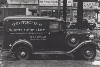 Schaller & Weber delivery truck circa 1938