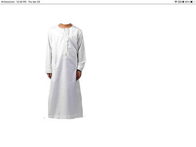 A thawb is a traditional Arab robe