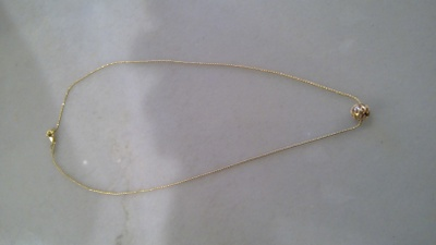 18k italian yellow gold necklace