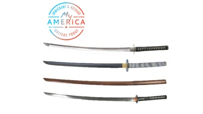 Joe Ide's grandfather's samurai swords