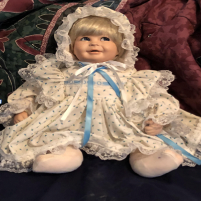 One of the dolls that my grandma made