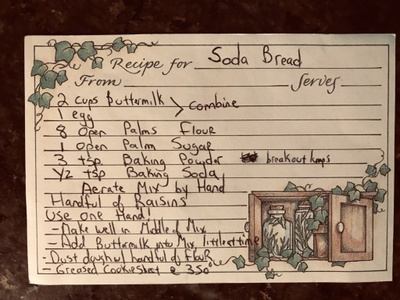 A family recipe for Irish soda bread.