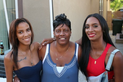 Mom, twin sister, and I