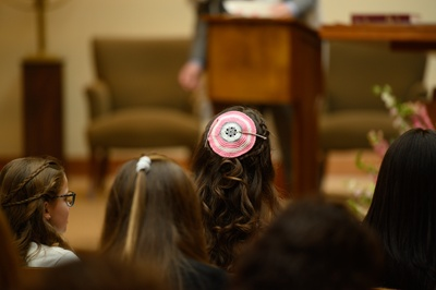 wearing the yarmulke at my bat mitzvah