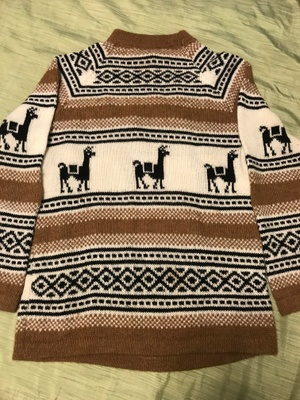 My grandmother's alpaca sweater