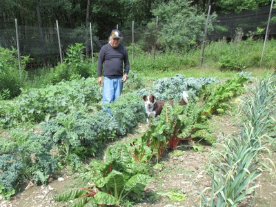 Me standing in my garden.
