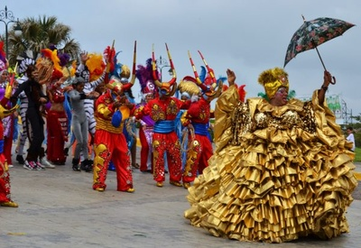 people dress up for the carnival.