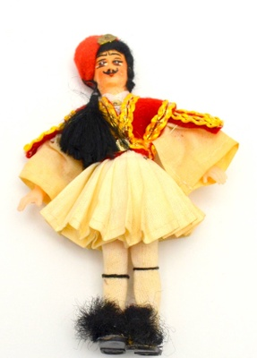 Greek doll in a fustanella