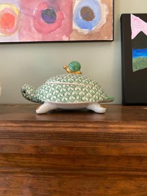 Porcelain Tortoise Box