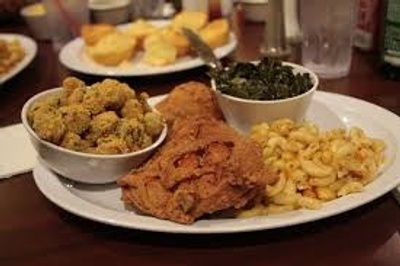 Fried Chicken Mac&Cheese Greens Stuffing